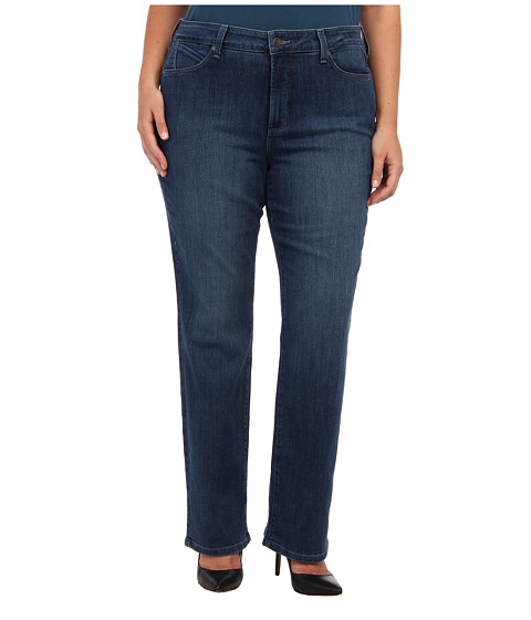 NYDJ Plus Size - Plus Size Marilyn Straight in Alberta (Alberta) Women's Jeans