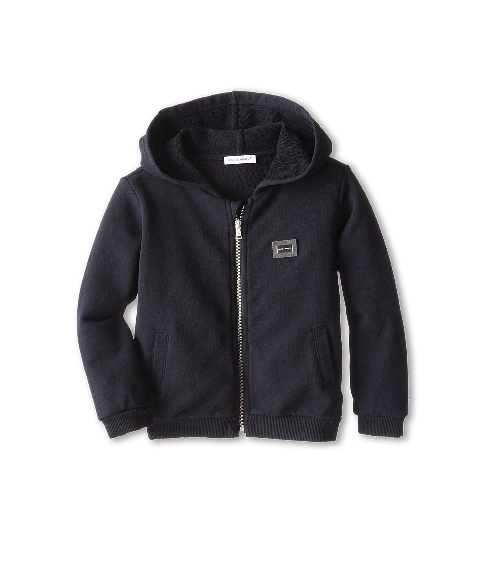 Dolce & Gabbana - Hooded Zip-Up Logo Sweatshirt (Infant) (Very Dark Blue) Men's Sweatshirt
