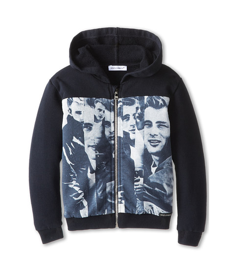 Dolce & Gabbana - James Dean Hooded Zip-Up Sweatshirt (Infant) (Multi) Men