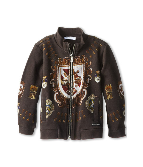 Dolce & Gabbana - Heraldic Print Zip-Up Cardigan (Infant) (Multi) Men's Coat