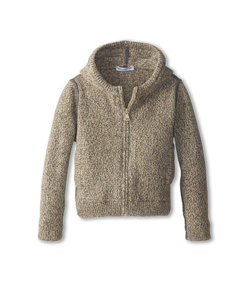 Dolce & Gabbana - Cashmere Zip-Up Hooded Cardigan (Infant) (Beige) Men's Sweater