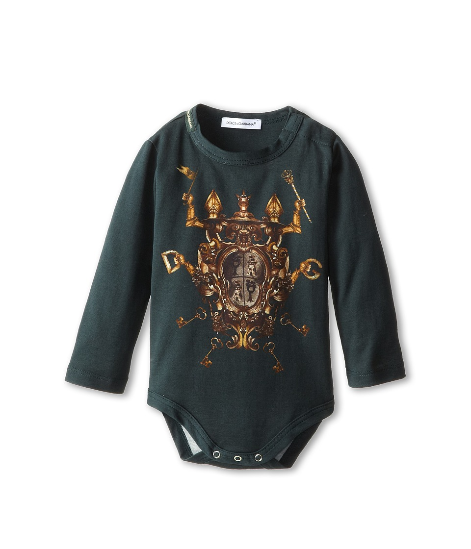 Dolce & Gabbana - Heraldic Print Long Sleeve Jumper (Infant) (Multi) Men's Jumpsuit & Rompers One Piece