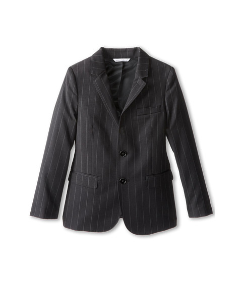 Dolce & Gabbana - Pinstripe 2-Button Suit Jacket (Big Kids) (Striped) Men's Jacket