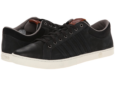 K-Swiss - Adcourt '72 SO P (Jet Black/Black/Driftwood) Men's Tennis Shoes