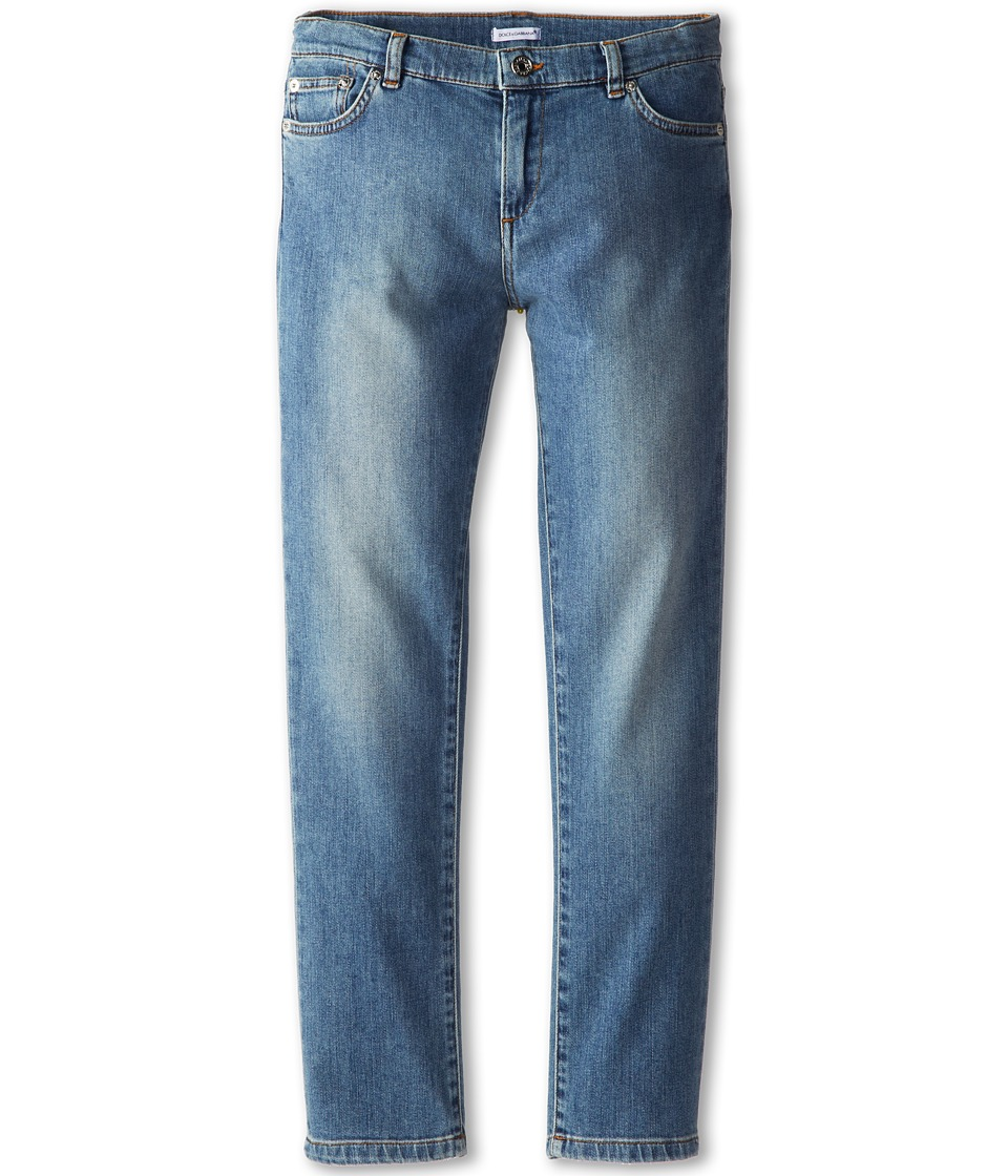 Dolce & Gabbana - 5-Pocket Medium Wash Jeans (Big Kids) (Multi) Men
