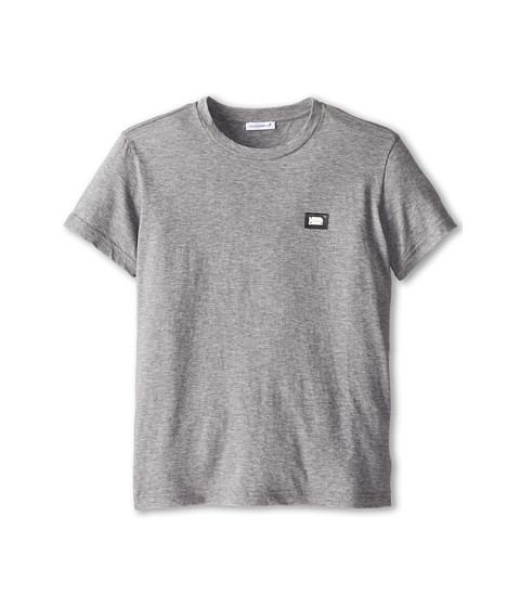 Dolce & Gabbana - Logo T-Shirt (Big Kids) (Melange Grey) Men