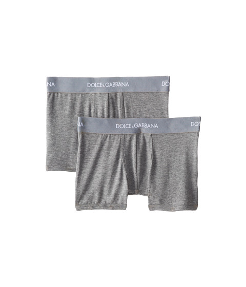 Dolce & Gabbana - 2-Pack Jersey Boxer (Toddler/Little Kids/Big Kids) (Melange Grey) Men's Underwear