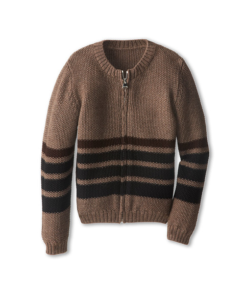 Dolce & Gabbana - Striped Zip-Up Wool Cardigan (Toddler/Little Kids) (Striped) Men