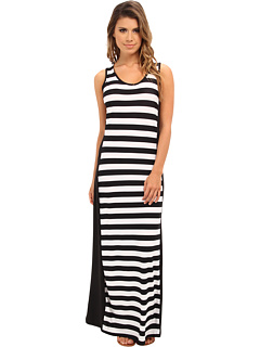SALE! $17.99 - Save $30 on Ninety Stripe Maxi Dress (Black White) Apparel - 62.52% OFF $48.00