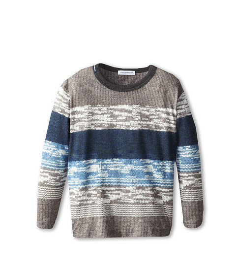 Dolce & Gabbana - Striped Long Sleeve T-Shirt (Toddler/Little Kids) (Multi) Men