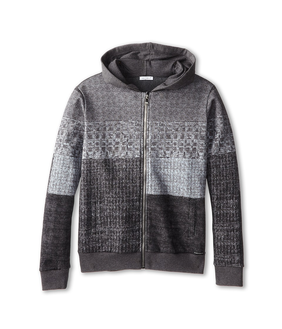 Dolce & Gabbana - Printed Zip-Up Hooded Sweatshirt (Big Kids) (Multi) Men
