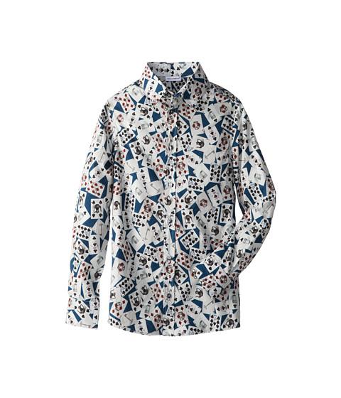 Dolce & Gabbana - Long Sleeve Card Print Button Up Shirt (Big Kids) (Print) Men