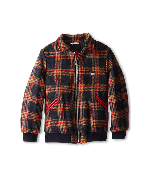 Dolce & Gabbana - Tartan Zip-Up Collared Jacket (Big Kids) (Check Tartan) Men