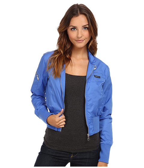 Members Only - Nylon Classic Bomber (Sky Blue) Women's Coat