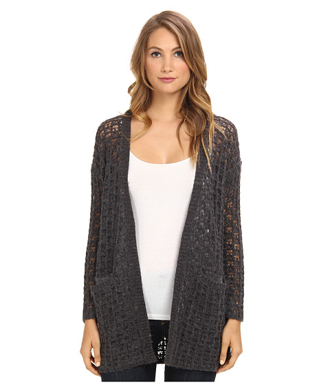 Graham and Spencer - TUT4108 Mesh Knit Cardigan (Charcoal) Women's Sweater
