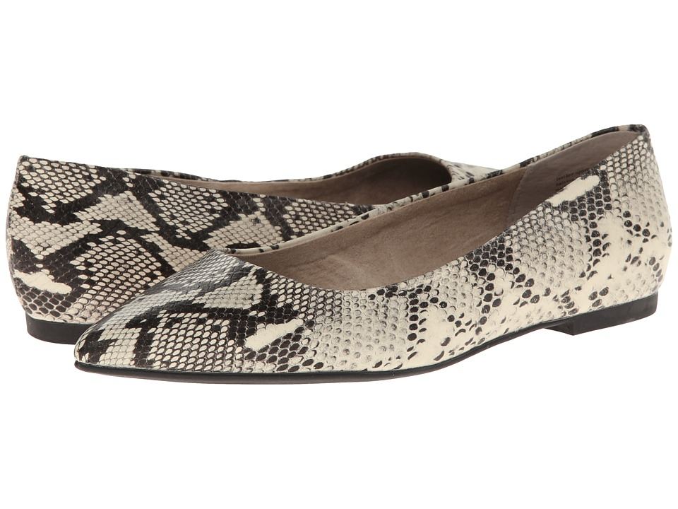 Seychelles - Well Known (Black/White Python) Women's Flat Shoes