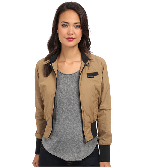 Members Only - Classic Bomber Jacket (Khaki) Women's Coat