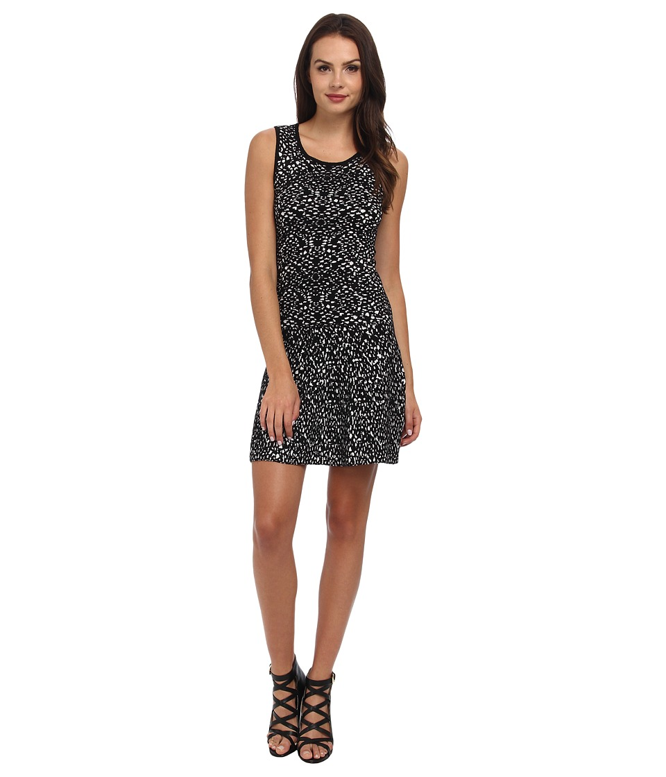 Graham and Spencer - POD4103 Jacquard Print Dress (Black/Milk) Women's Dress