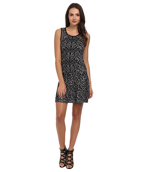 Graham and Spencer - POD4103 Jacquard Print Dress (Black/Milk) Women
