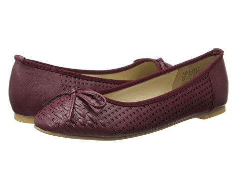 Wanted - Sari (Burgundy) Women's Flat Shoes