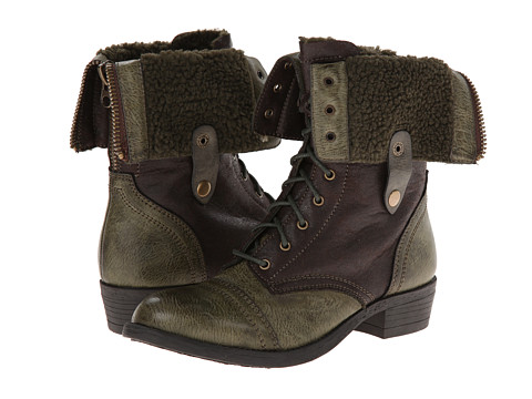 Wanted - Bobby (Khaki) Women's Lace-up Boots