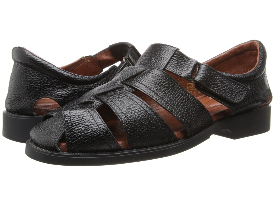 Fitzwell - Sal (Black Leather) Men's Sandals