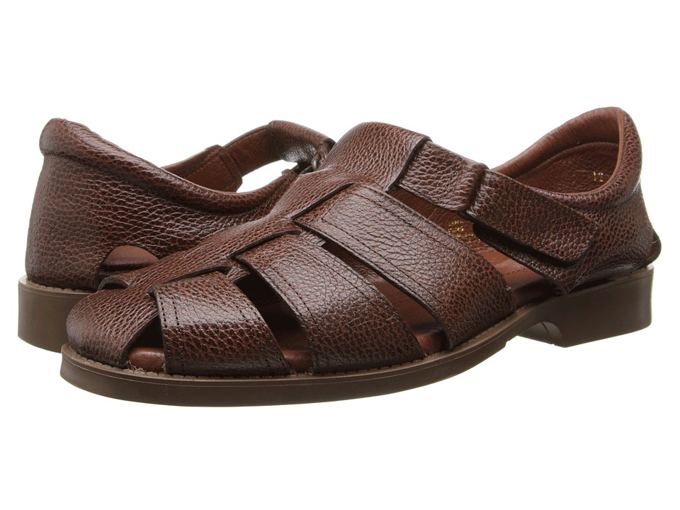 Fitzwell - Sal (Dark Brown Leather) Men's Sandals