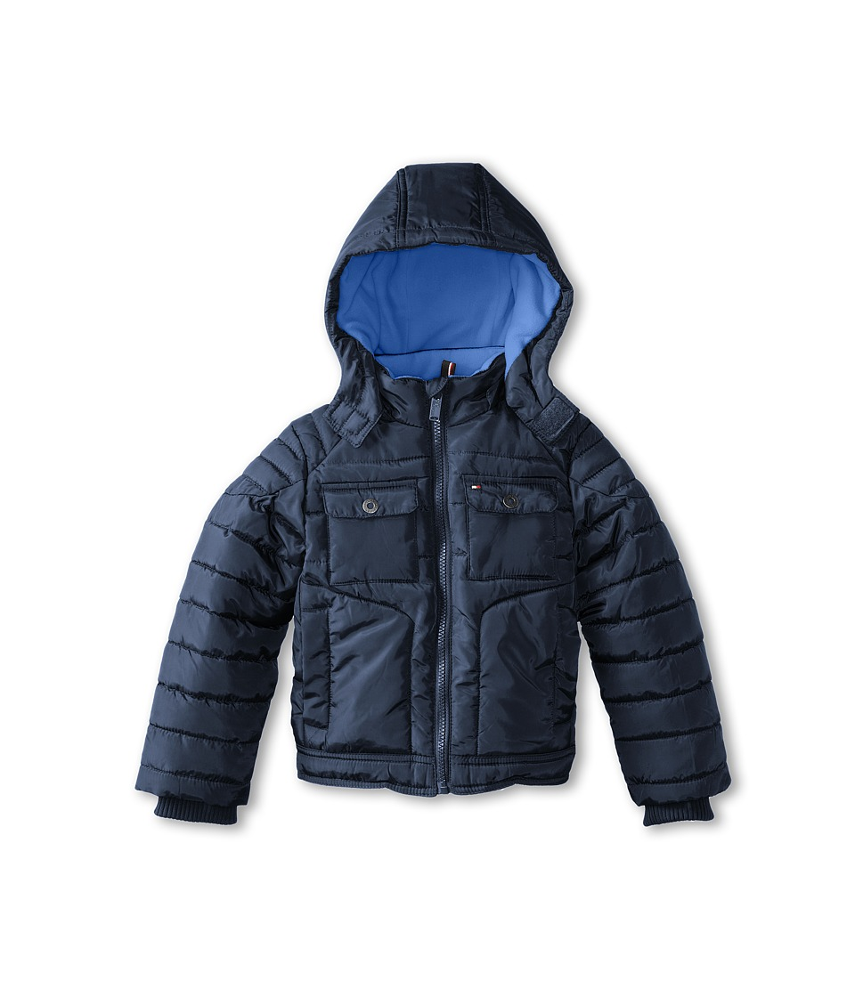 Tommy Hilfiger Kids - Gabriel Puffer Jacket (Toddler/Little Kid) (Swim Navy) Boy's Jacket