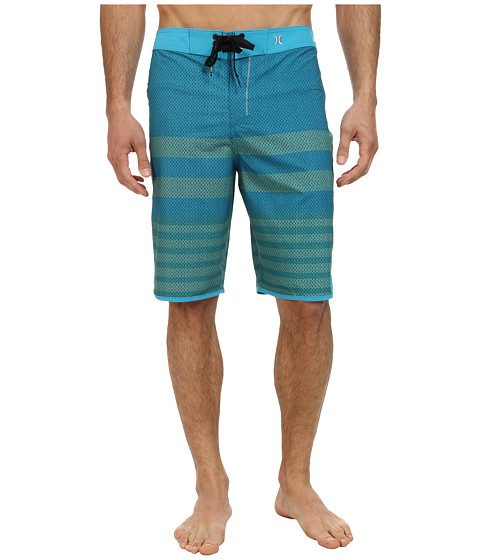 Hurley - Phantom Warp 4 Boardshort (Cyan 1) Men's Swimwear