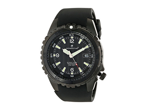 Momentum by St. Moritz - D6 Night Vision (Black/Rubber) Watches
