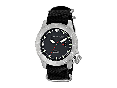 Momentum by St. Moritz - Torpedo (Black/Black Nylon) Watches