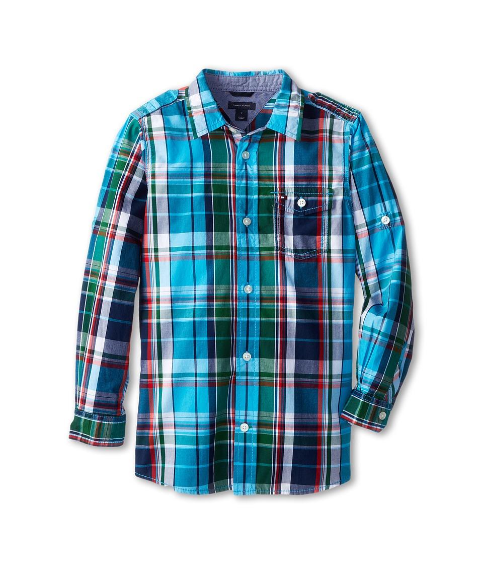 Tommy Hilfiger Kids - L/S Jack Plaid (Toddler/Little Kid) (Hawaiian OC) Boy's Clothing