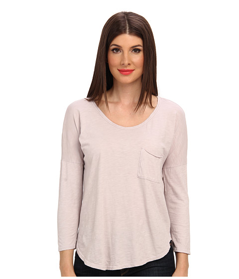Velvet by Graham & Spencer - Khlo02 Three Quarter Sleeve Slub Tee (Driftwood) Women's T Shirt