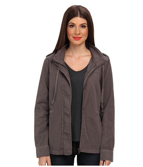 Velvet by Graham & Spencer - Rida02 Cotton Twill Jacket (Smoke) Women