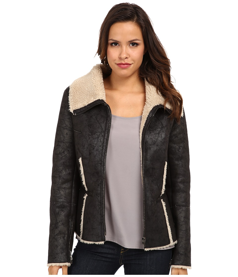 Velvet by Graham & Spencer - Pamela Aviator Jacket (Black) Women's Jacket