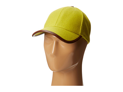 San Diego Hat Company - CTH3700 Wool Cap with Faux Leather Trim (Citron) Caps