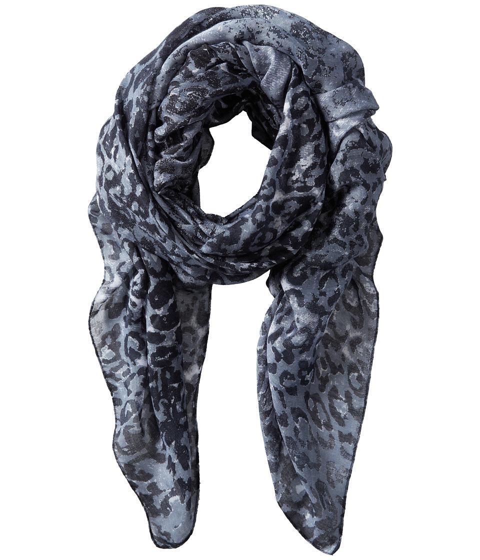 San Diego Hat Company - BSS1412 Leopard Print Scarf (Grey) Scarves
