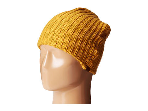 San Diego Hat Company - KNH3324 Cable Knit Beanie with Suede Tab (Mustard) Beanies