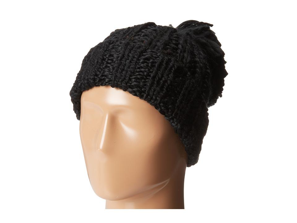 San Diego Hat Company - KNH3318 Oversized Rib Knit Beanie with Oversized Pom Pom (Black) Beanies