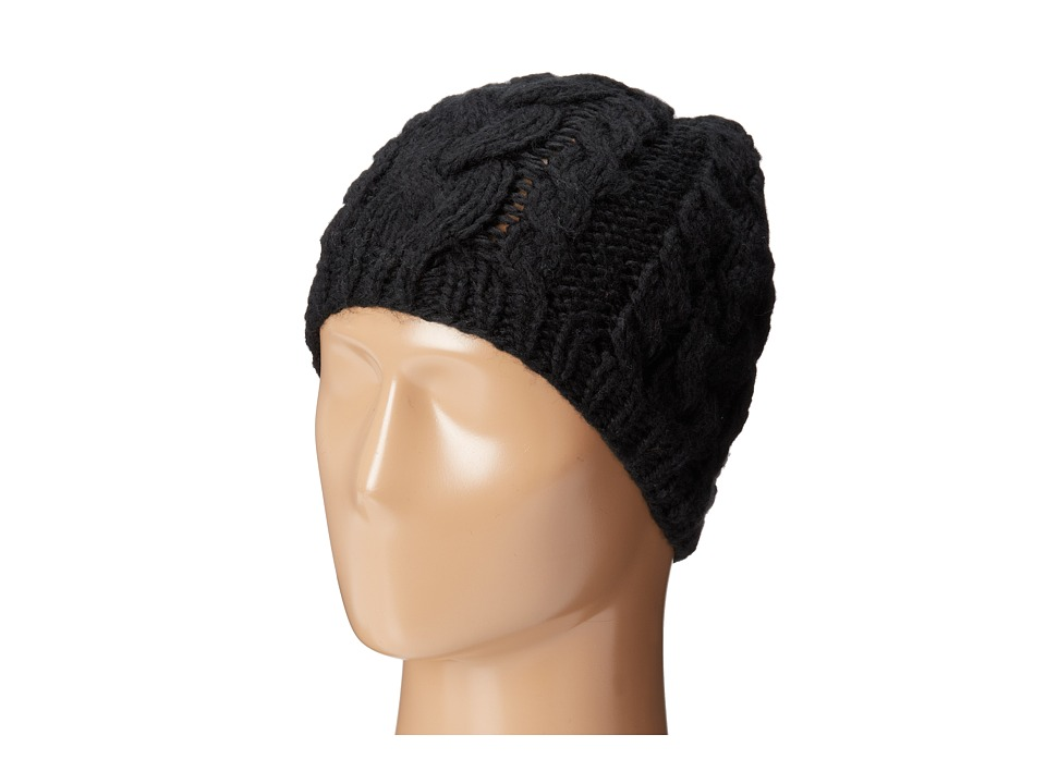San Diego Hat Company - Cable Stitch Knit Beanie (Black) Beanies
