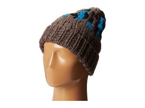 San Diego Hat Company - KNH3314 Oversized Cable Knit Beanie with Pattern (Multi Grey) Beanies