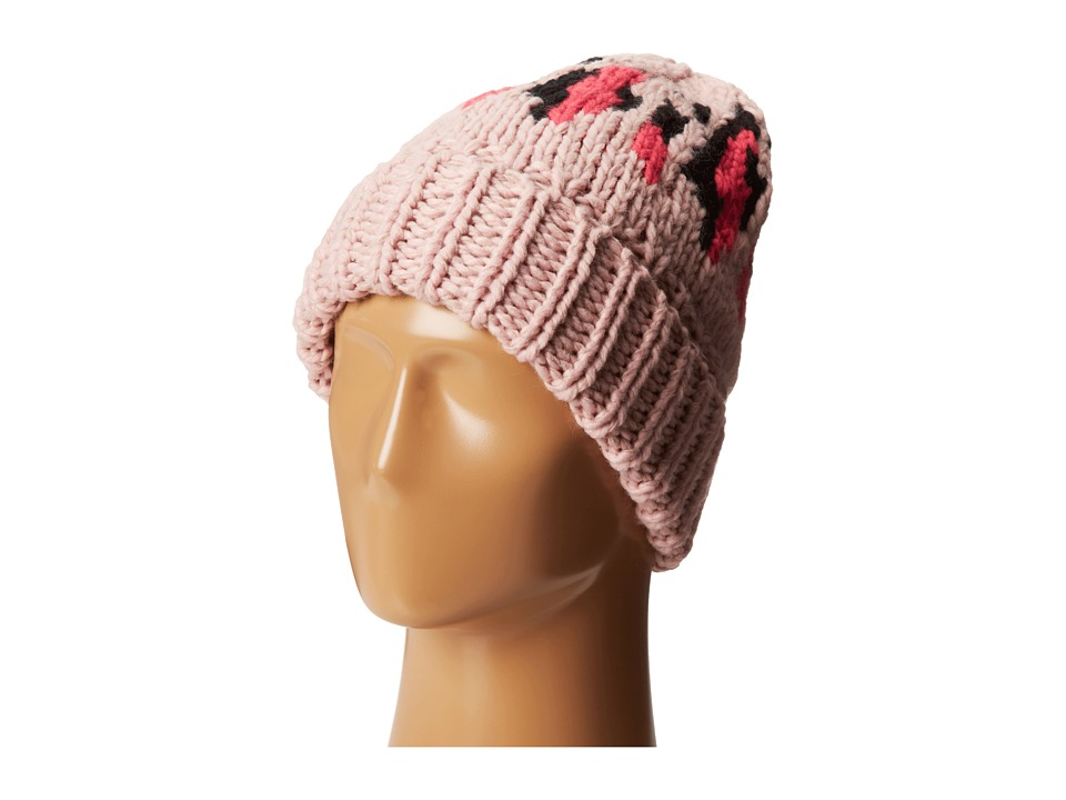 San Diego Hat Company - KNH3314 Oversized Cable Knit Beanie with Pattern (Multi Pink) Beanies