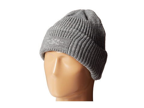 San Diego Hat Company - KNH3320 Cable Knit Beanie with Cuff Printed Patch (Grey) Beanies