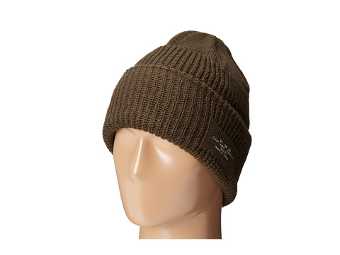 San Diego Hat Company - KNH3320 Cable Knit Beanie with Cuff Printed Patch (Olive) Beanies
