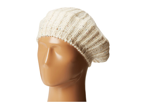 San Diego Hat Company - KNH3302 Sequin Knit Beret (Ivory) Berets