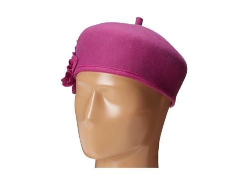 San Diego Hat Company - WFB2008 Wool Felt Beret with Detail Flower (Rosebud) Berets