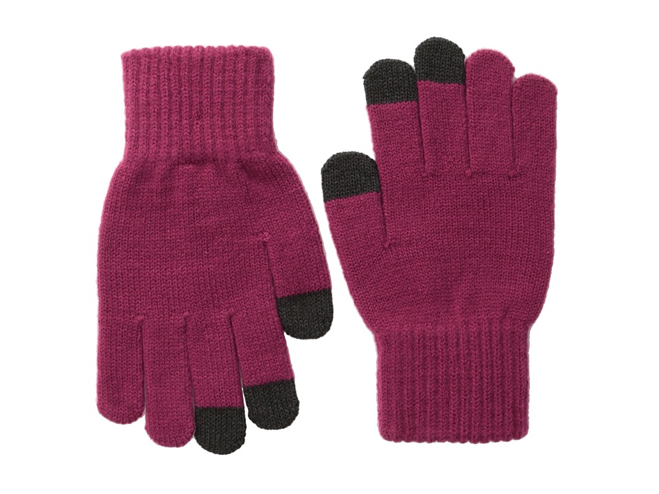San Diego Hat Company - KNG3150 Knit Gloves with Text Friendly Fingers (Magenta) Dress Gloves