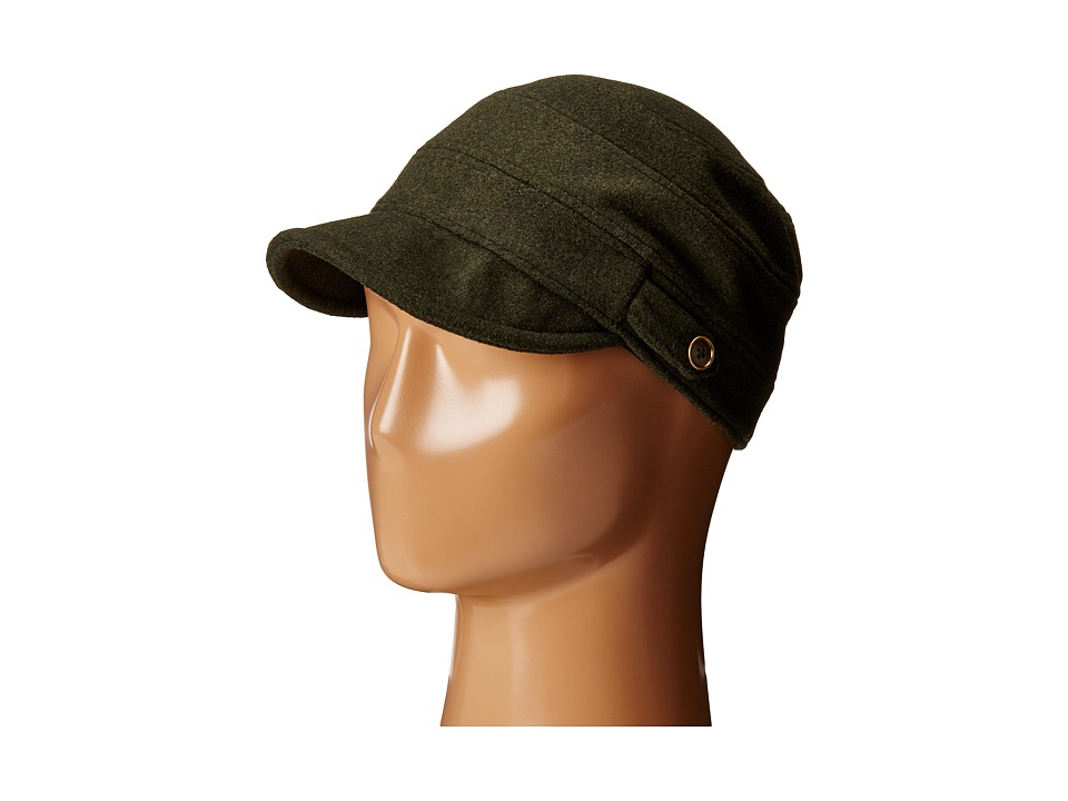 San Diego Hat Company - CTH3712 Cadet with Side Tabs Brass Buttons (Olive) Traditional Hats