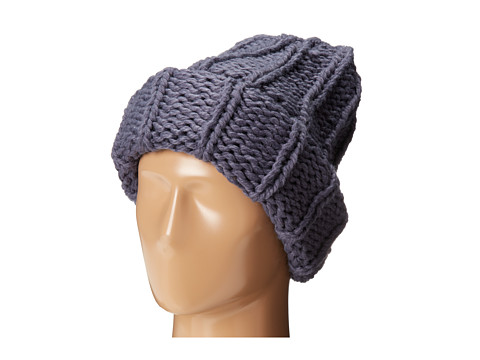 San Diego Hat Company - KNH3304 Oversized Large Cable Knit Beanie (Gunmetal) Beanies