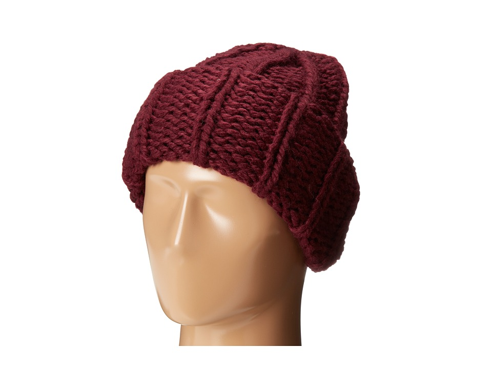 San Diego Hat Company - KNH3304 Oversized Large Cable Knit Beanie (Wine) Beanies